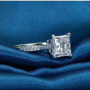 New 14K White Princess Cut Diamond ❤️Wedding Ring
